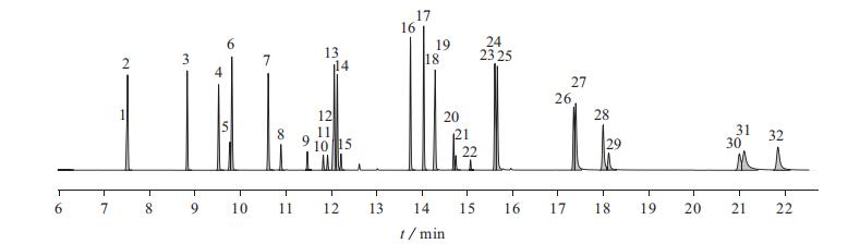 多环芳烃、六六六、滴滴涕总离子流图|北纳生物
